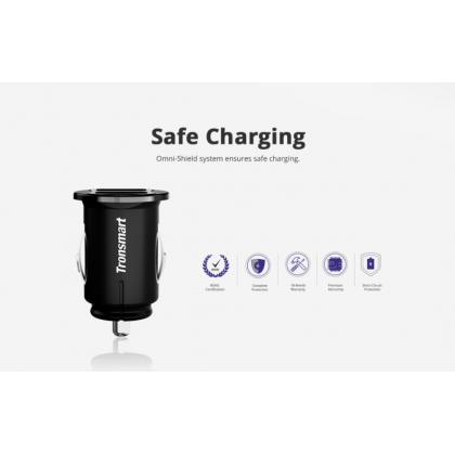 Tronsmart C24 24W Dual USB Port 12/24V Car Charger W/ VoltiQ