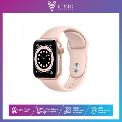 Apple Watch Series 6 GPS, 44mm/40mm Aluminium Case with Sport Band