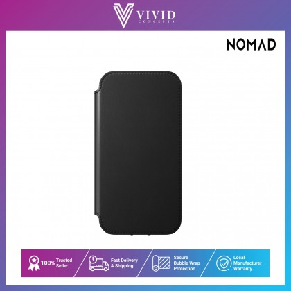 Nomad Rugged Folio Leather Case For Iphone12 .47-Mblk, 78-Mbrwn, 30-12blk, 61-12brwn,16-MNblk, 58-MNbrwn