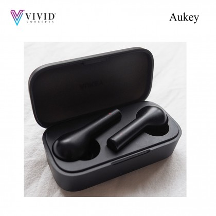 Aukey EP-T21 BT 5.0 IPX4 TWS True Wireless Earbuds With Noise Cancellation Mic