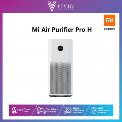 Xiaomi Mi Air Purifier Pro H Smart Home Room Cleaner Touch Screen OLED Display Low Noise Apps and AI Smart Control- 1 Year Warranty