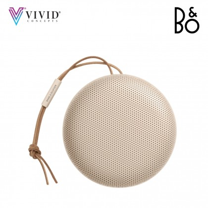 B&O A1 2nd Gen Portable Bluetooth Speaker with Voice Assist & AI - Gold Tone